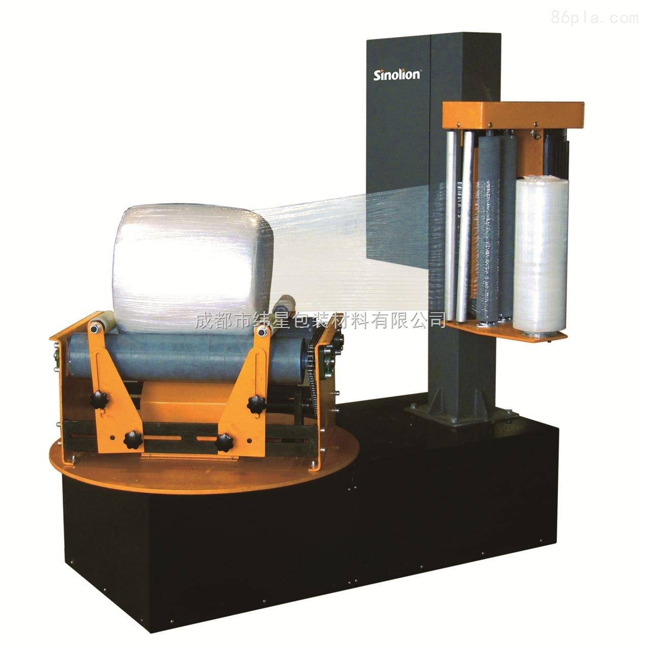 四川打包设备P500F小圆筒式缠绕包装机